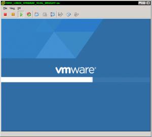 vCenter Log Insight virtual appliance booting