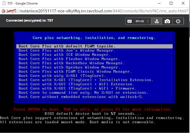 Nutanix CE in the Cloud - First VM on AHV - kamshin